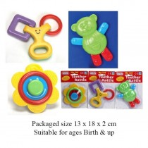 Fun Time - My First Teether Rattle - Assorted Shapes