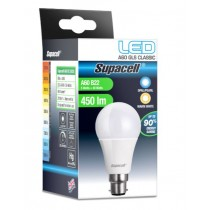 Supacell Led A60 Gls Bc (B22) Base 5W Energy Saving Light Bulb - Warm White