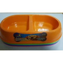 Pet Touch - 2 In 1 Pet Feeding Bowl - Assorted Colours - Colours May Vary