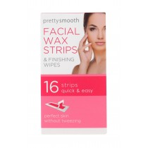 Pretty Smooth Facial Wax Strips & Finishing Wipes - Pack of 16