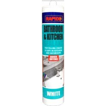 Rapide Quick Drying Bathroom & Kitchen Sealant - White - 280ml - Exp: 01/23