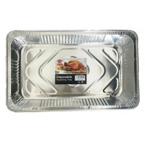 Foil Deep Rectanglar Disposable Aluminium Roasting Tray - Approximate Size 52Cm X 32.5Cm