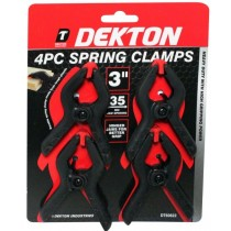 "Dekton Heavy Duty Spring Clamps - Black - 3"" - Pack of 4"
