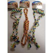 PET TOUCH - DOGGY PLAY TOY ROPE - COLOURS SHAPES AND DESIGNS MAY VARY