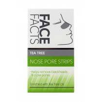 Face Facts Nose Pore Strips with Tea tree Oil - Vegan - Pack of 6