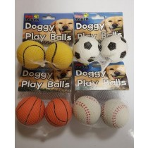 Pet Touch - Doggy Play Balls - Colours And Designs May Vary - Pack Of 2