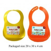 Beautiful Beginnings - Baby's Bib with Food Catcher - Assorted Colours