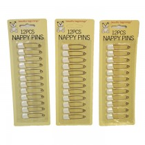 BABY NAPPY PINS - PACK OF 12