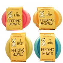 Baby Feeding Bowl - Assorted Colours - 350ml - 13.5cm x 3.5cm - Pack Of 2