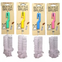 Baby Bottle Cleaning Brush - 4 Assorted Colours - Colours May Vary