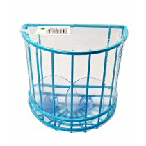Blue Storage Tidy With Suction Hooks