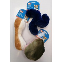 Pet Touch Squeaky Plush Doggy Play Toy - 26cm x 20cm - Assorted Designs