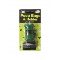 Poop Bags With Holder/Dispenser - With 30 Bags