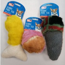 Pet Touch Squeaky Plush Doggy Play Toy - 25cm x 15cm - Assorted Designs