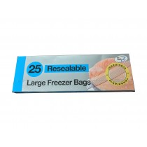 Set of 25 Resealable freezer bags