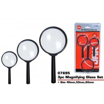 JAK Magnifying Glass Set - Assorted Sizes - Pack of 3