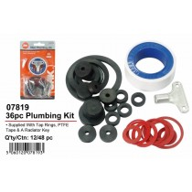 36 Piece Plumbing Kit