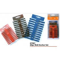 40pc Raw Plaugs - Wall Anchor Set