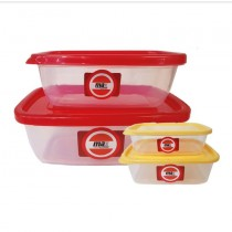 Max Straight Pack Plastic Container - Colours May Vary - Assorted Sizes - Pack of 2