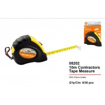 JAK Heavy Duty Contractors Tape Measure with 25mm Blade - 10 meter