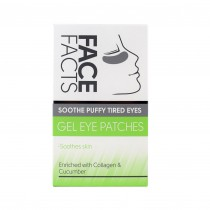 Face Facts Gel Eye Patches with Collagen & Cucumber Extract - Pack of 4