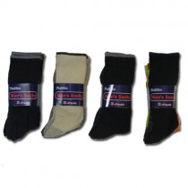 Mens Cotton Socks - Colours And Designs May Vary - 12 Pairs