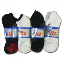 MENS TRAINER ANKLE SOCKS - COLOURS AND DESIGNS MAY VARY - PACK OF 12