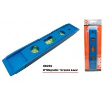 "JAK Magnetic Torpedo Level - Length 9"" - Colours May Vary"