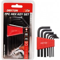 Dekton Strong Carbon Steel Hex Key Set - Pack of 7