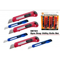 6 Pieces Snap Off Utility Knife Set - Assorted Colours