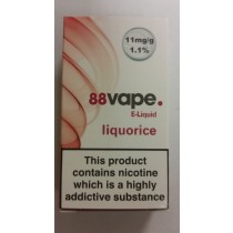 88 Vape E Liquid - Liquorice - 11Mg - 10Ml