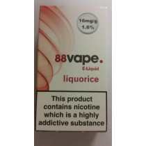 88 VAPE E LIQUID - LIQUORICE - 16mg - 10ml