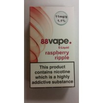88 VAPE E LIQUID - RASPBERRY RIPPLE - 11mg - 10ml