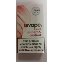 88 Vape E Liquid - Rhubarb & Custard - 11Mg - 10Ml
