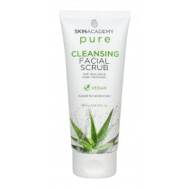 Skin Academy Pure Cleansing Facial Scrub with Aloe Vera & Green Tea Extract - 75ml
