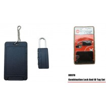 Combination Lock and ID Tag Set