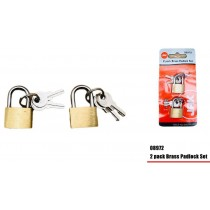 Brass Padlock Set - Pack of 2