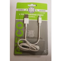 Pifco 8 Pin Charging Cable - 1 Metre Cable - For Iphone 5/6/7/8/10/X
