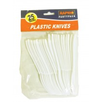 Rapide Disposable/Reusable Plastic Knives - Pack Of 25
