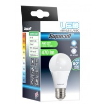 Supacell Led A60 Gls Es (E27) Base 5W Energy Saving Light Bulb With Screw Fitting - Cool White
