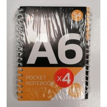 Signature A6 Pocket Notebook with 50 Sheets - 54g - Pack of 4