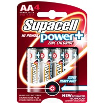 NEW SUPACELL HIGH POWER PLUS R6 1.5V AA HEAVY DUTY BATTERY - PACK OF 4