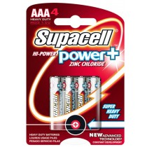 NEW SUPACELL HI POWER PLUS R03 1.5V AAA HEAVY DUTY BATTERY - PACK OF 4