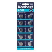Konnect AG12 Alkaline Button Battery - 1.5V - Pack of 10