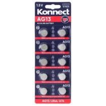 Konnect AG13 Alkaline Button Battery - 1.5V - Pack of 10