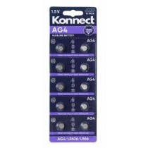 Konnect AG4 Alkaline Button Battery - 1.5V - Pack of 10