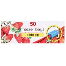 Tidyz Freezer Bags with Slide Zip - 22 x 22cm approx. - Pack Of 50