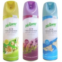 Bloome Air Freshener Room Spray - 3 Assorted Fragrances White Jasmine/Cotton Fresh/Lavender Meadow - 500ml