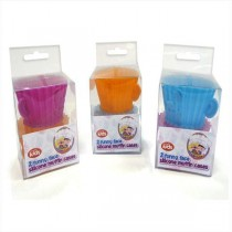2 Funny Face Silicone Muffin Cases - 3 Assorted Colours