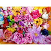 Wholesale Artificial Flower Heads - Job lot - Variety of Flowers